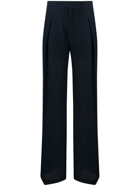 Chloé tailored wide leg trousers in blue