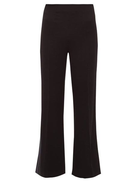 Roland Mouret - Madison Stretch Crepe Trousers - Womens - Navy Multi