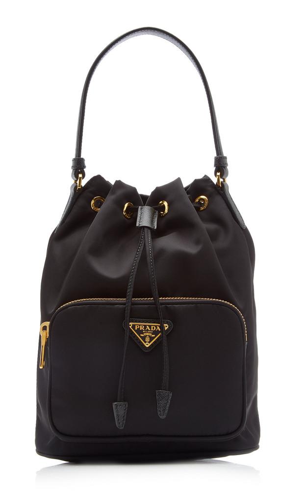 Prada Nylon Bucket Bag in black