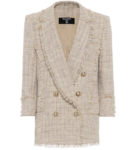 Balmain Tweed blazer in beige