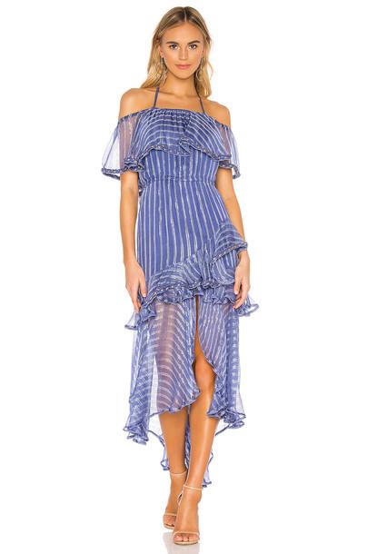 MISA Los Angeles Ambrosia Dress in blue
