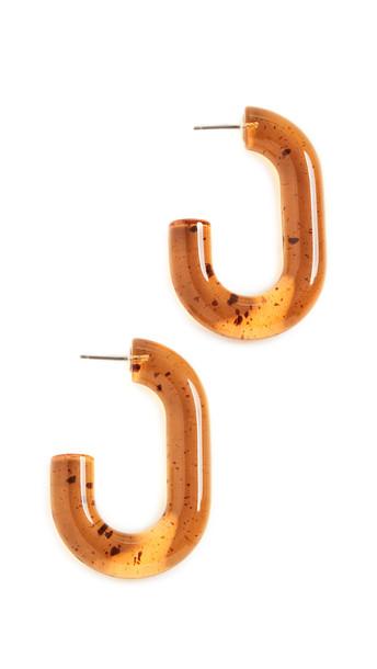 Rachel Comey Small Keeper Earrings in brown