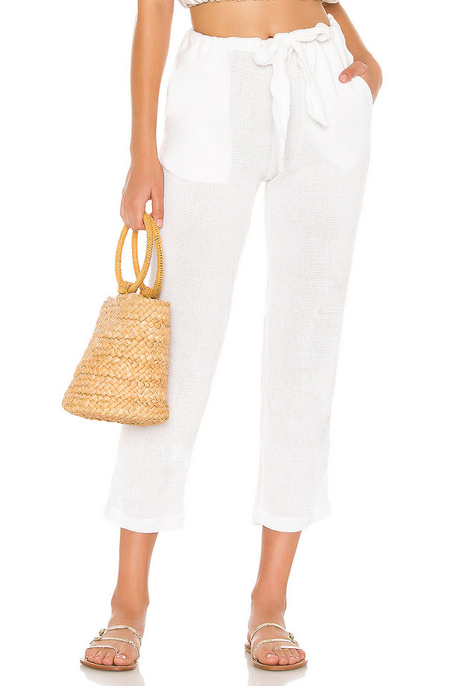 Cali Dreaming Gauze Day Pant in white