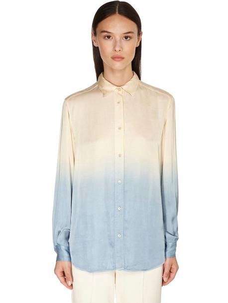 FORTE FORTE Degradé Print Shirt in blue / ivory