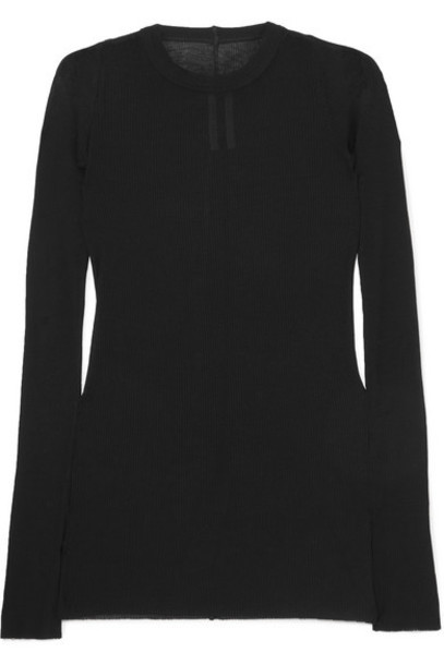 Rick Owens - Ribbed Jersey Top - Black
