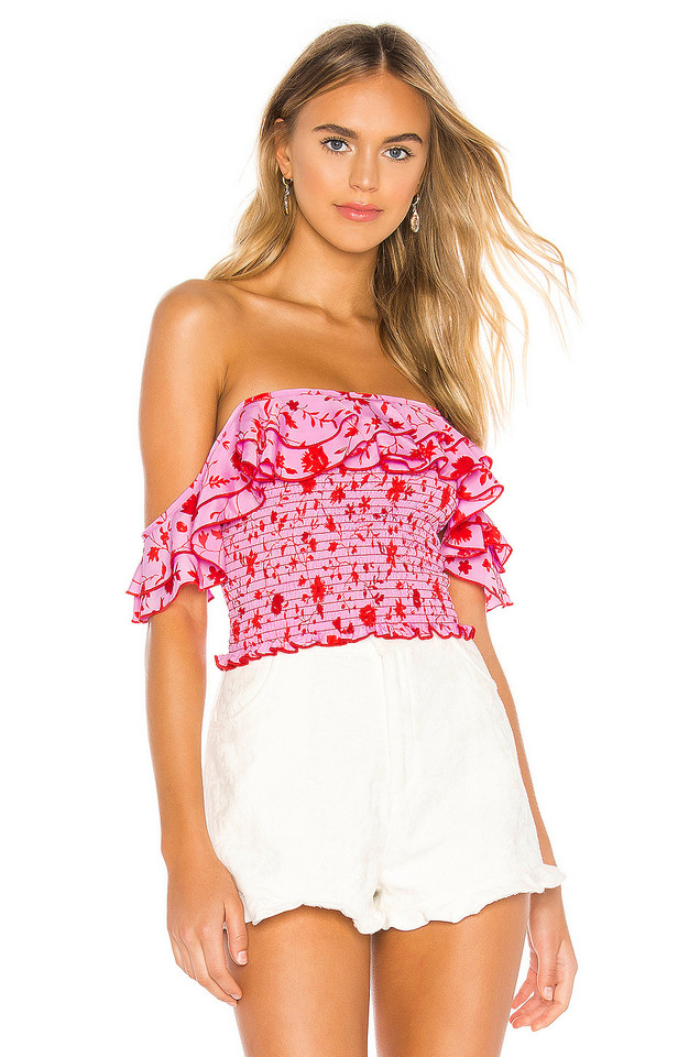 LIKELY Leila Athena Top in pink