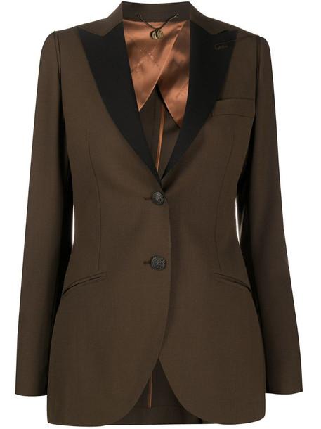 Maurizio Miri Asia contrasting-lapel blazer in brown