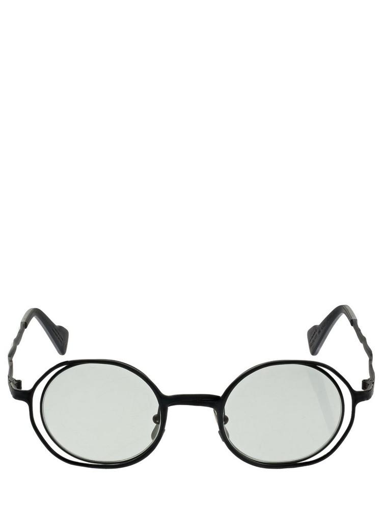 KUBORAUM BERLIN H11 Round Metal Sunglasses in black / green