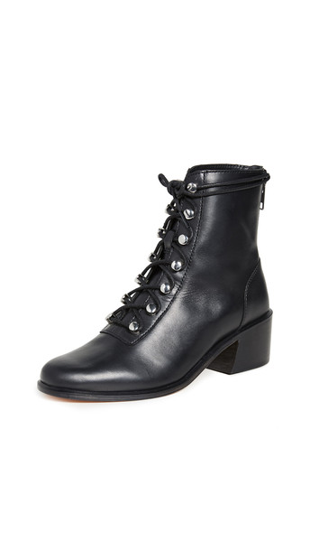 Free People Eberly Lace Up Boots in black
