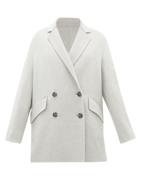 Joseph - Milburn Double-breasted Wool-blend Coat - Womens - Light Grey