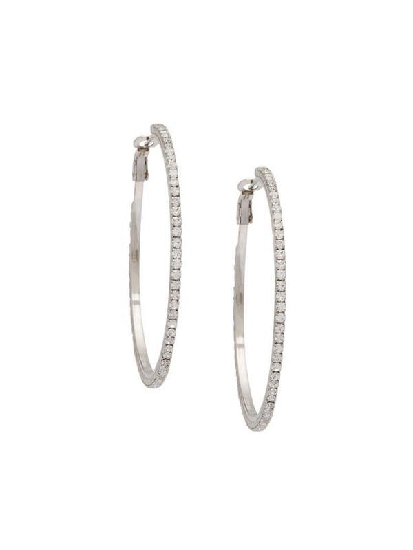 Miu Miu crystal hoop earrings in silver