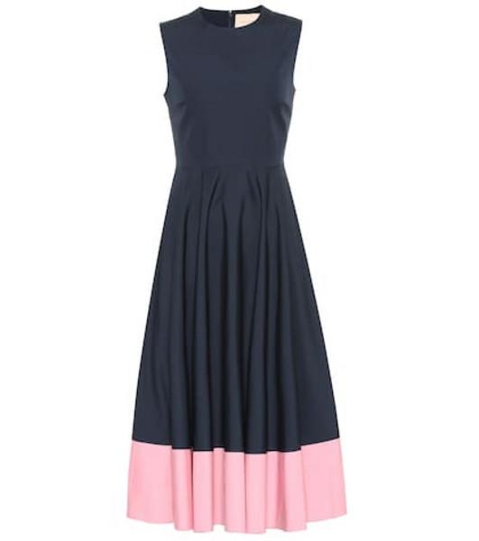 Roksanda Athena cotton-poplin midi dress in blue