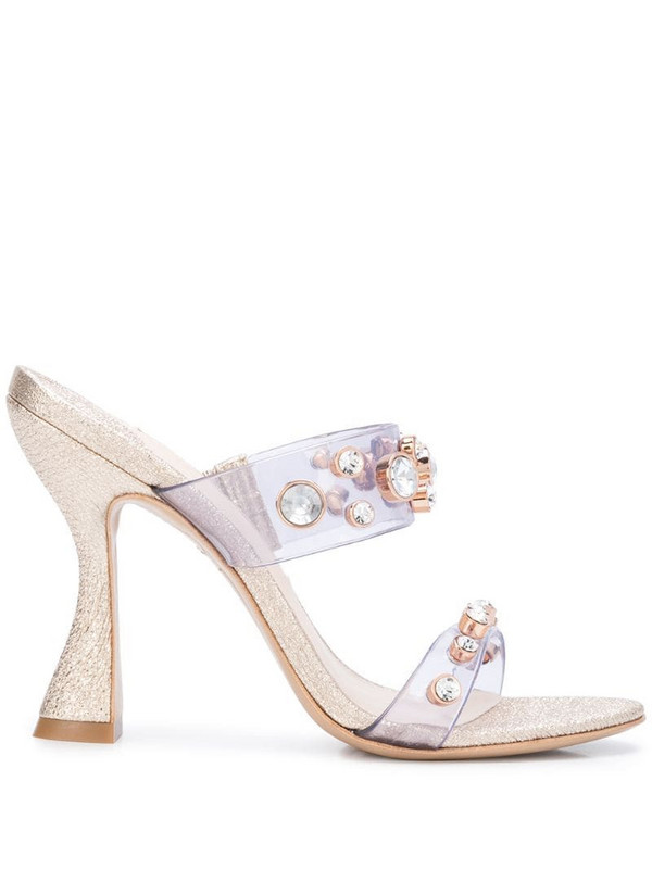 Sophia Webster Dina 100mm mules in gold