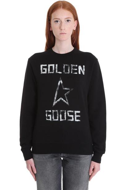 Golden Goose Aiako Sweatshirt In Black Cotton