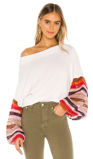 Free People Cha Cha Sweater in Ivory