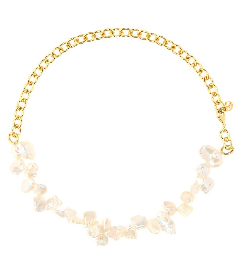Anissa Kermiche Two Faced Shelly gold-plated pearl necklace