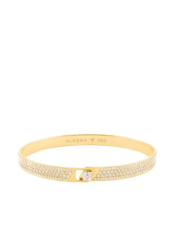 Alessa 18kt yellow gold diamond pavé Spectrum bracelet