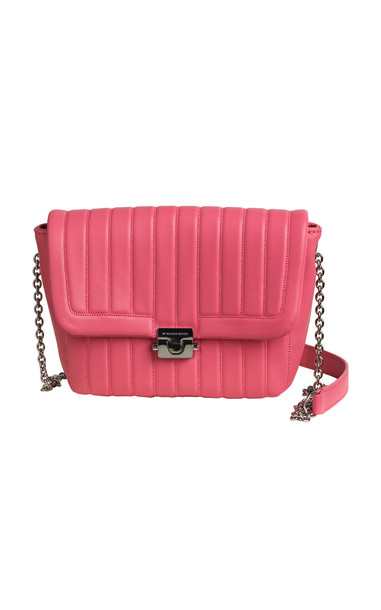 By Malene Birger Berta Quilted Mini Leather Bag in pink