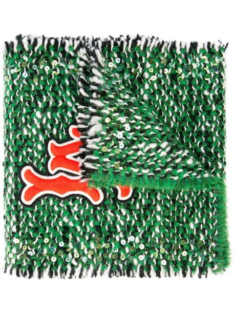 Gucci LA embroidered scarf in green