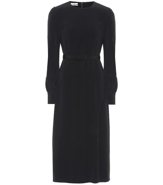 Co Stretch-crêpe midi dress in black