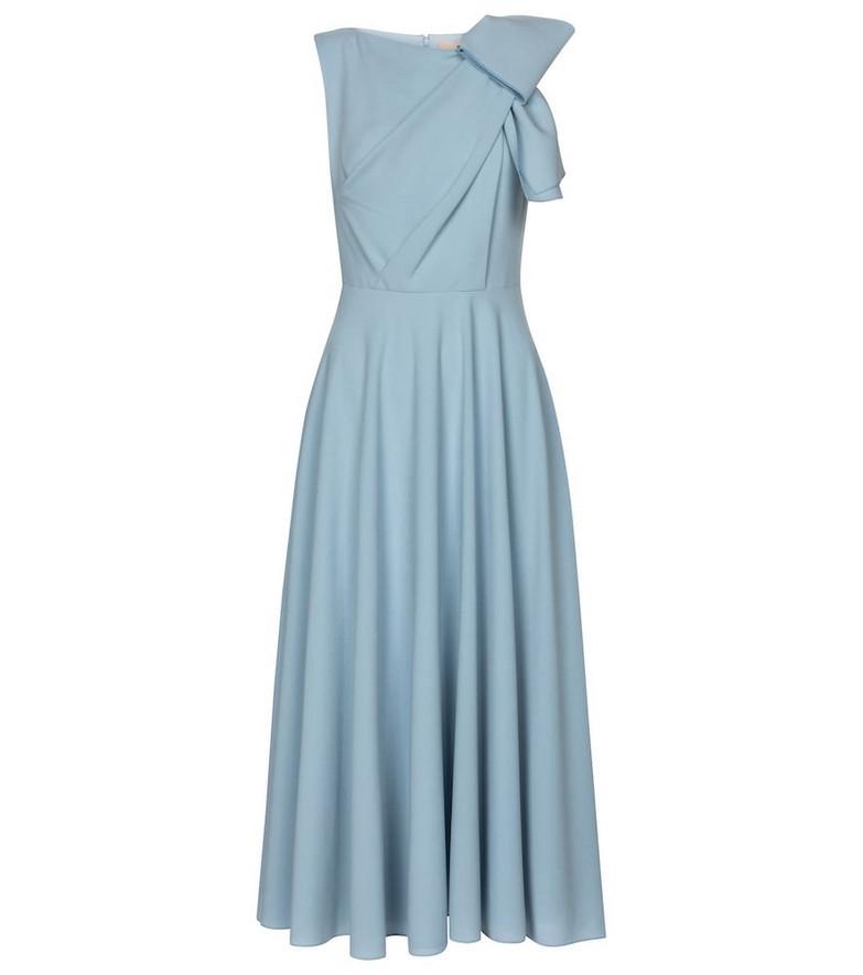 Roksanda Brigitte bonded crêpe midi dress in blue