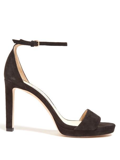 Jimmy Choo - Misty 100 Suede Sandals - Womens - Black