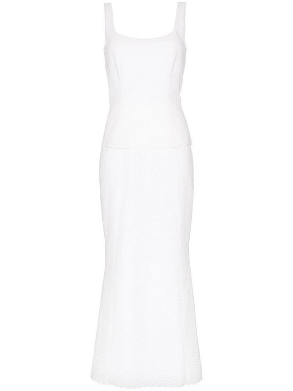 Rebecca De Ravenel Penelope lace dress in white