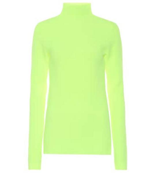Helmut Lang Mockneck top in green