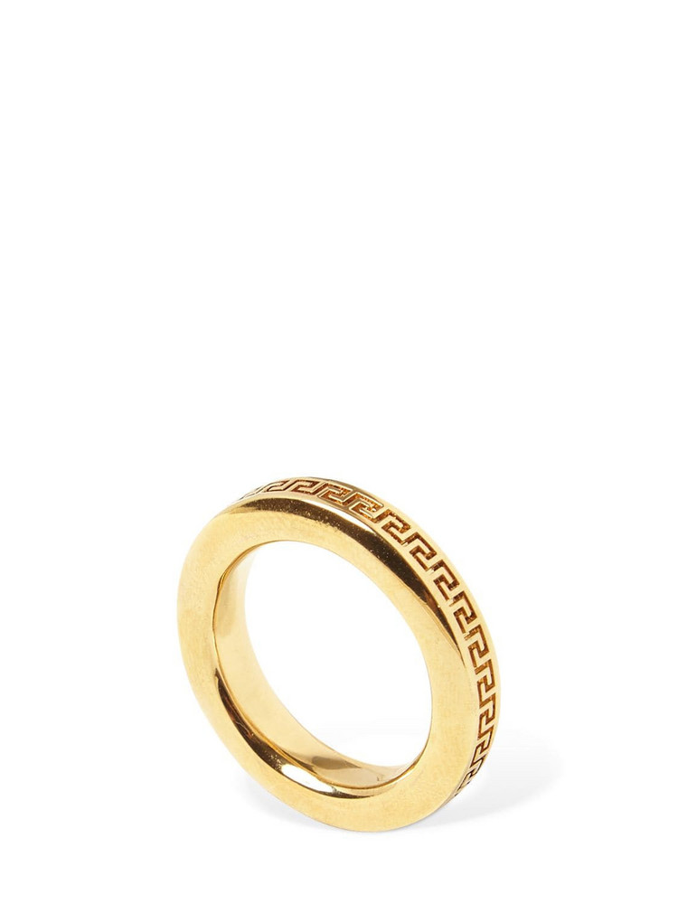 VERSACE Greek Motif Small Fedina Ring in gold