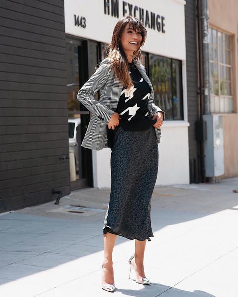 sweater jacket skirt
