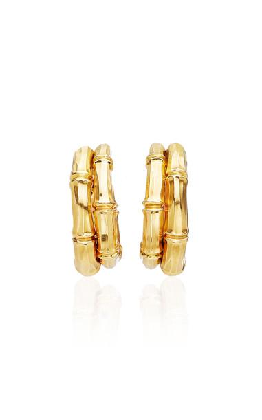 Eleuteri Vintage Cartier 18K Yellow Gold Earrings
