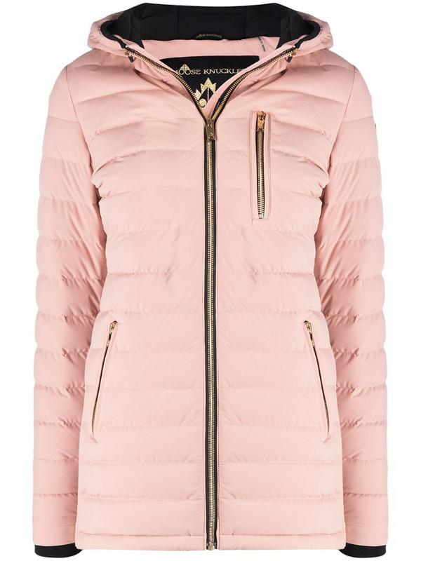 Moose Knuckles Rockcliff padded down jacket in pink
