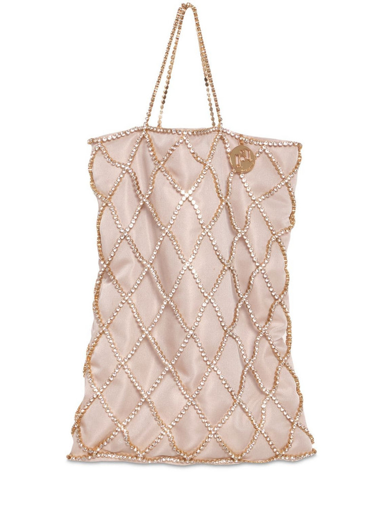 ROSANTICA Greta Embellished Shopper Bag in beige