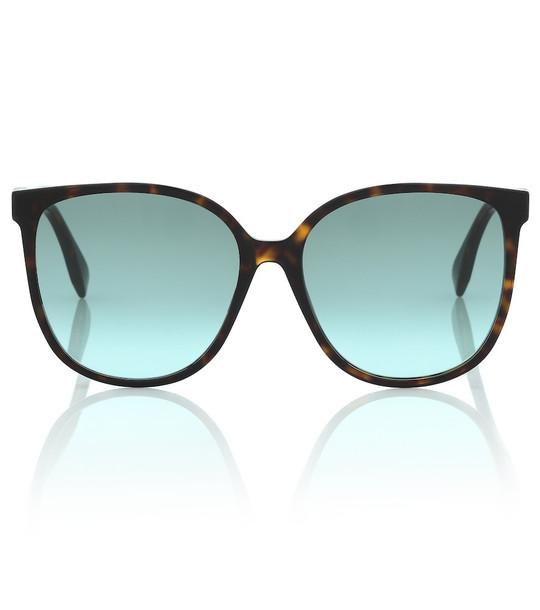 Fendi FF square tortoiseshell sunglasses in brown