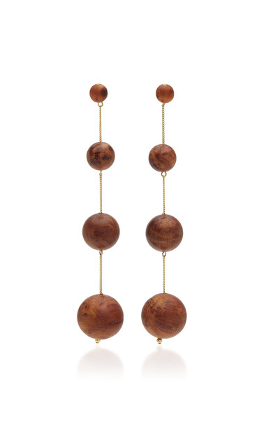 Cult Gaia Four Tier-Drop Candace Earrings in brown