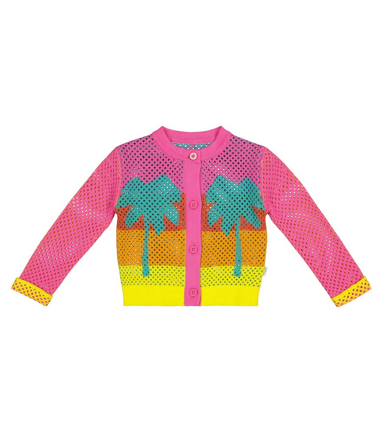 Stella McCartney Kids Baby cotton cardigan in pink