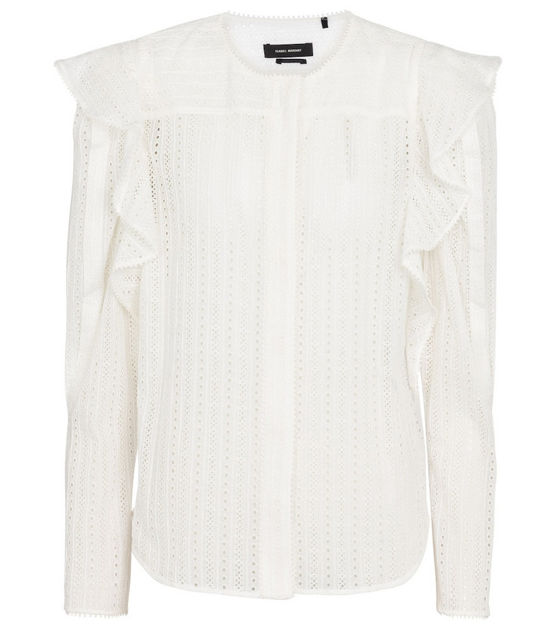 Isabel Marant Getylia cotton-blend blouse in white