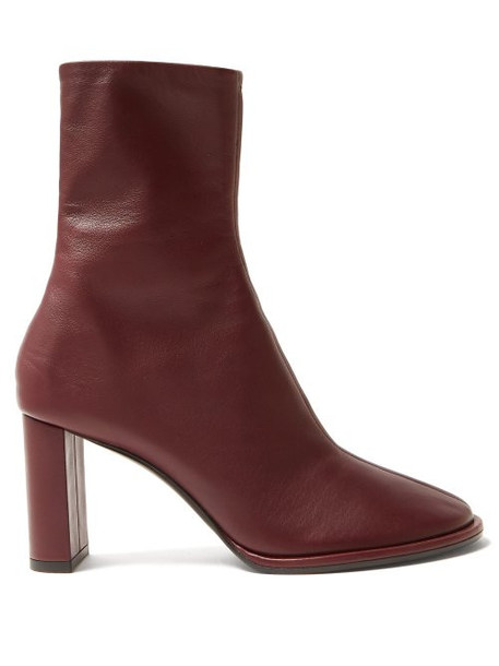 tea leather boots leather burgundy shoes