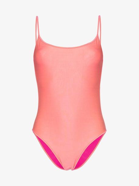 Ack fisico amarena scoop neck swimsuit in pink