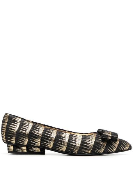 Salvatore Ferragamo Viva ballerina shoes in black
