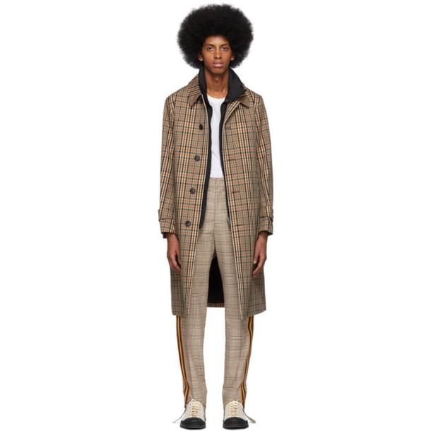 Burberry Tan Check Lenthorne Car Coat