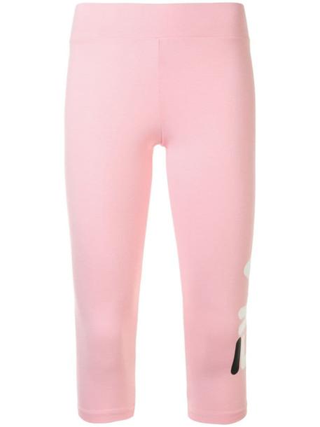 Fila logo print leggings in pink
