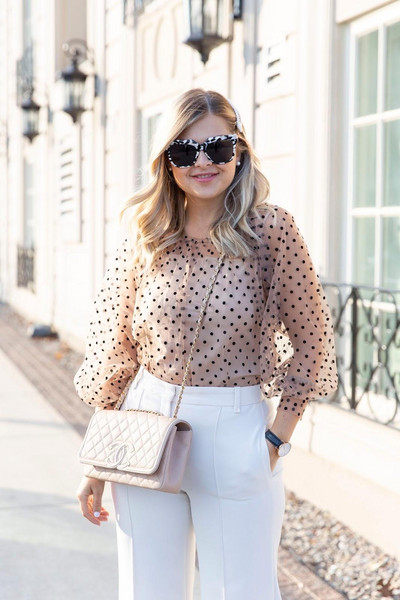suburban faux-pas blogger blouse pants jewels sunglasses bag shoes