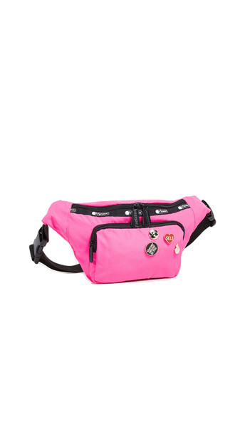 LeSportsac x Baron von Fancy Belt Bag in magenta