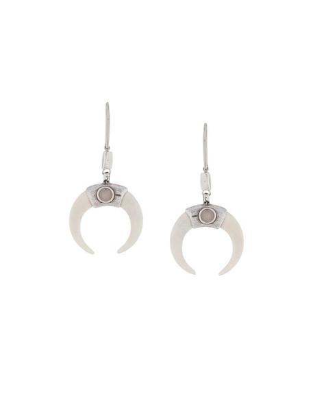 Isabel Marant Zanzibar buffalo horn earrings in neutrals