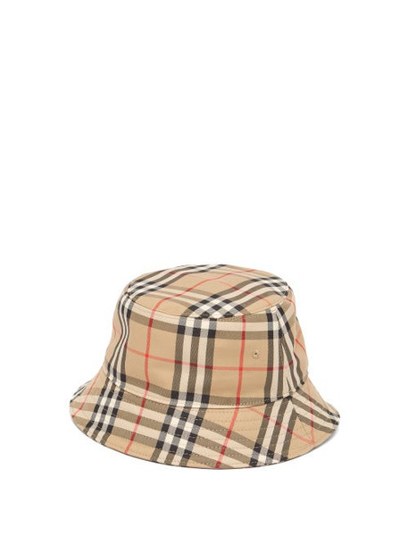 Burberry - Vintage-check Cotton Bucket Hat - Womens - Beige Multi