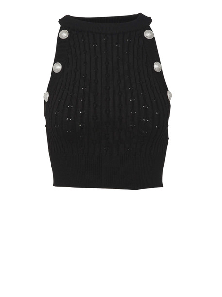 Balmain Paris Top in black