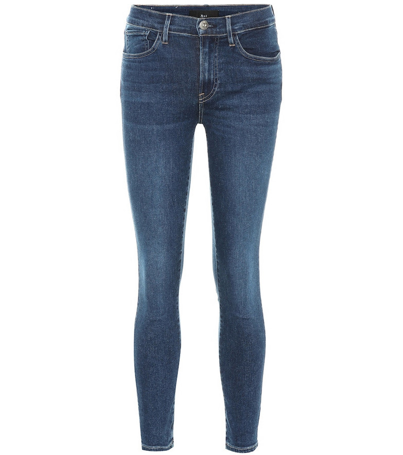 3x1 Sophie mid-rise skinny jeans in blue
