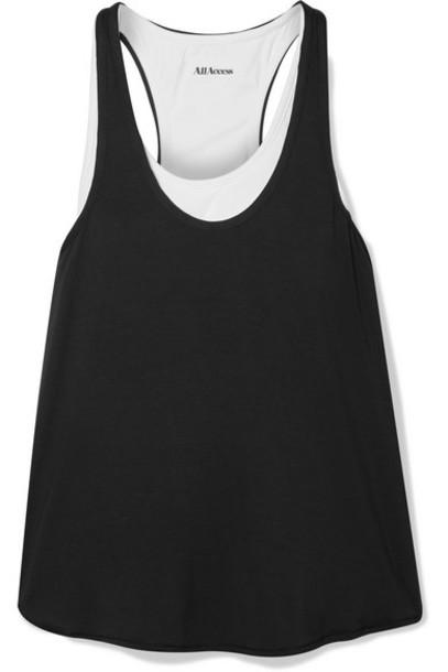 All Access - Duet Layered Stretch-modal Jersey Tank - Black