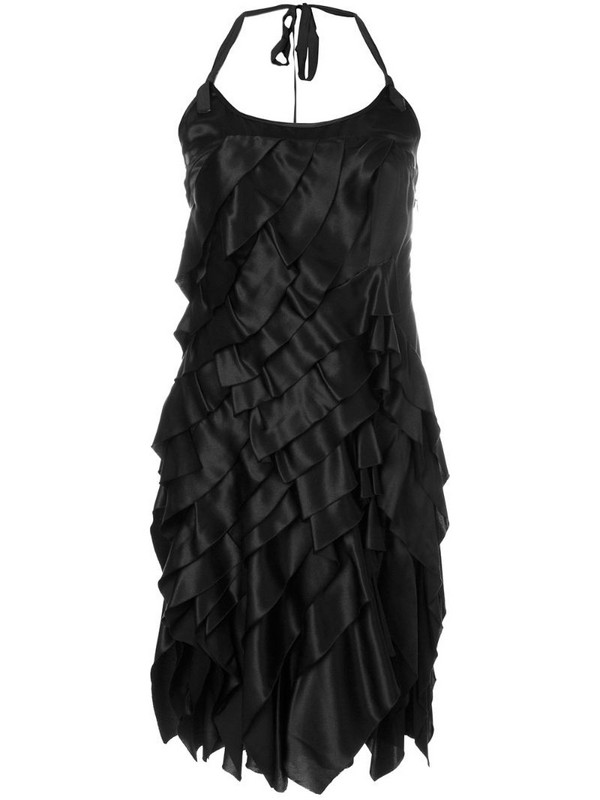 Prada Pre-Owned layered mini dress in black
